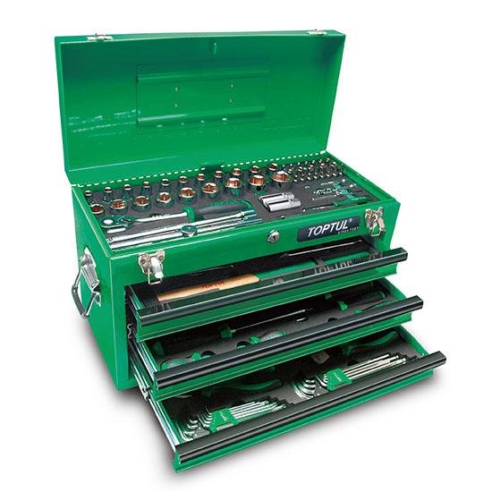 99PCS Professionele mechanische gereedschapsset met gereedschapskist met 3 laden