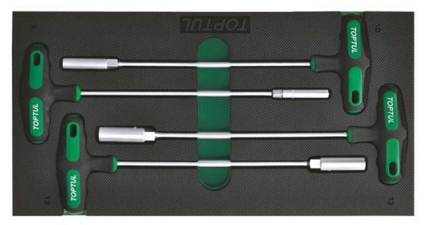 4-delige T-hendel set met zeskantdopsleutel