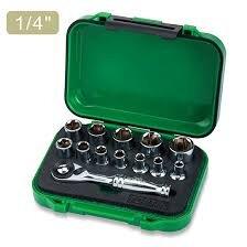 """13 STUKS 1/4 """"DR. Mini ratel dopsleutel set"""