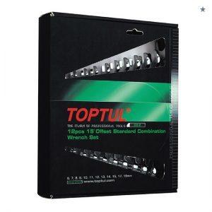 15 ° offset standaard combinatiesleutel-set - COLOUR BOX