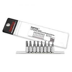 """8 STUKS 1/4 """"DR. Ster Tamperproof Bit Socket Rail Set"""