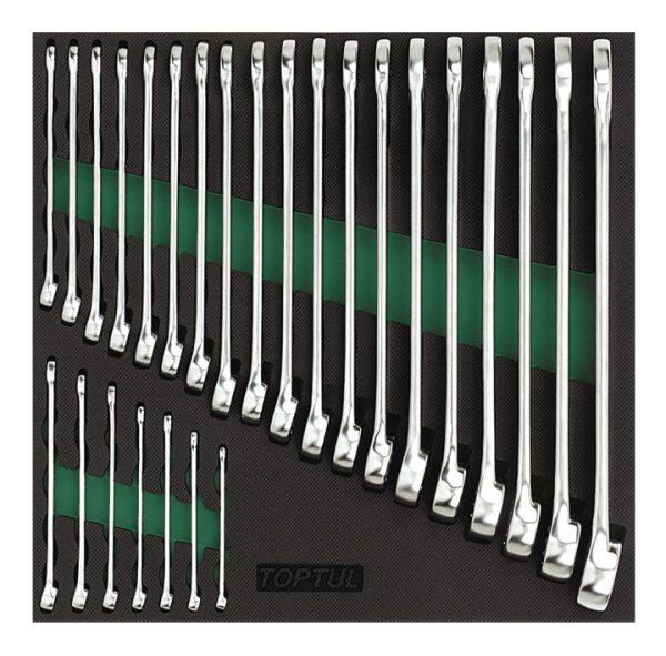 26PCS - 15 ° Offset Hi-Performance combinatiesleutel-set
