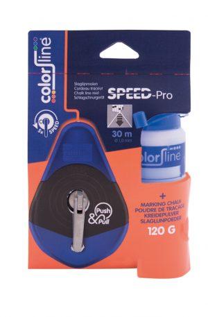 SPEED-PRO 5x , slaglijnmolen 30 m. + 120 gr. blauwe poeder