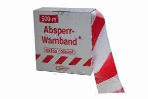 Signalisatielint EXTRA 500 m x 80 mm wit/rood