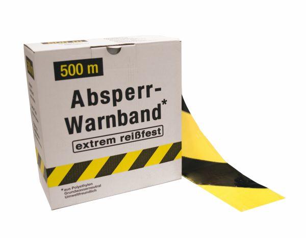 Signalisatielint SUPER 500 m x 80 mm geel/zwart