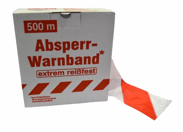 Signalisatielint SUPER 500 m x 80 mm wit/rood