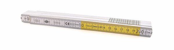 Houtmeter pro geel/wit