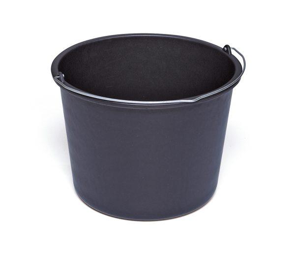 Bouwemmer - PE 12 L - zwart