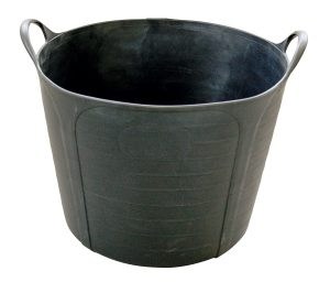 "Rubberen ""MULTI-FLEX"" kuip - zwart - 40 L"