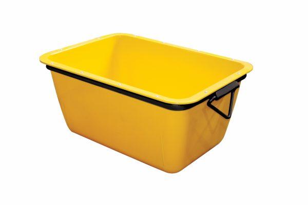 Mortelbak 200 L - geel - rechthoekig