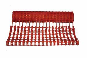 Afbakennet kunststof rood 50 m x 1 m - 150 g/ m2