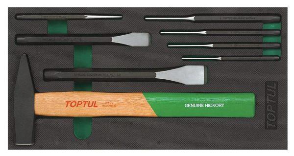 8PCS - Hammer, Punch & Beitel Set