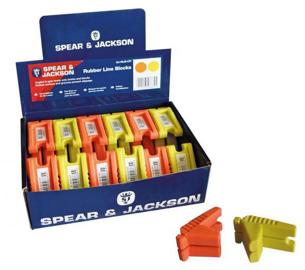 Lijn blok, oranje rubber 73 x 50 x 35 mm - display 24 stuks